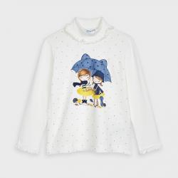 MAYORAL dievčenské tričko dlhorukávové 4059-030 navy
