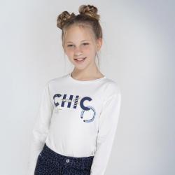 MAYORAL dievčenské tričko s nápisom 7063-076 nat