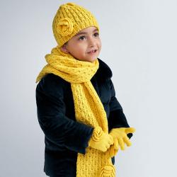 Dievčenský zimný set 3 dielny 10897-087 yellow