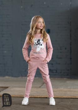 Dievčenské bavlnené nohavice