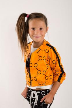 Dievčenská mikina bez kapucne MM 961 Chanel orange