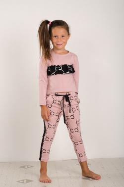 Bavlnené vzorované nohavice MM 660 Chanel pink