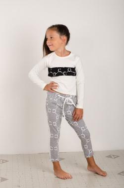 Bavlnené vzorované nohavice MM 660 Chanel silver