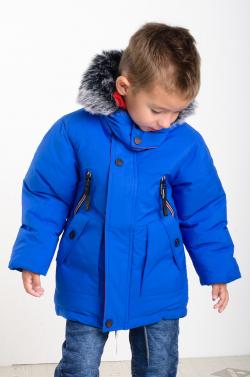 Predĺžená zimná parka pre chlapcov MM 258 blue