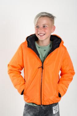 Obojstranná prechodná vatovaná bunda MM 238 black/orange