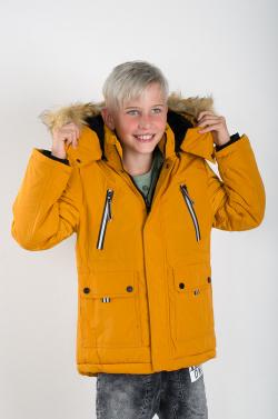 Nepremokavá chlapčenská zimná bunda MM 208 yellow