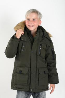 Nepremokavá chlapčenská zimná bunda 269 dark green
