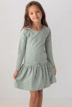 Dievčenské šaty tunika so srdiečkami