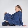 Dievčenská asymetrická denimová košeľa MAYORAL 7142-005 denim