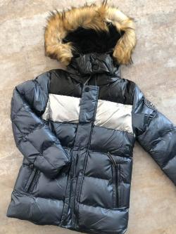 Metalická zimná bunda chlapčenská