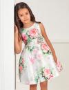 Exkluzívne dievčenské šaty s jemnou kvetinovou potlačou ABEL&LULA