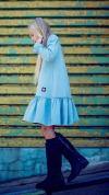 Dievčenské šaty tunika ME TUU - blue MM 503