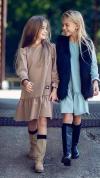 Dievčenské šaty tunika ME TUU - brown MM 503 Me TUU