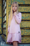 Dievčenské šaty tunika ME TUU - pink MM 503 pink