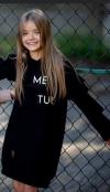 Dievčenské šaty tunika  s volánom MM 504 ME TUU black