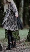 Dievčenská bavlnená predĺžená košeľa leo
