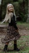 Dievčenská asymetrická tylová sukňa LEO