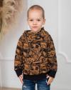 Chlapčenská vzorovaná mikina  s kapucňou