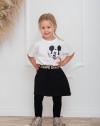 Dievčenská bavlnená sukňa s vačkami SAVAGE