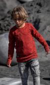 Bavlnené tričko s dlhým rukávom WOLF red