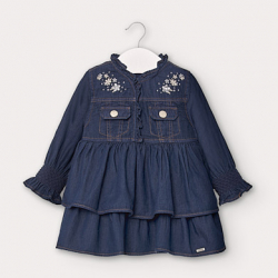 Rifľové šaty MAYORAL 2962-05 denim