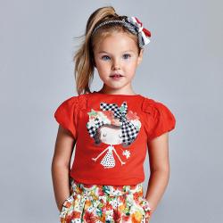 MAYORAL dievčenské tričko s krátkym rukávom 3002-021