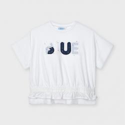 MAYORAL tričko stiahnuté v páse 3010-027 ink