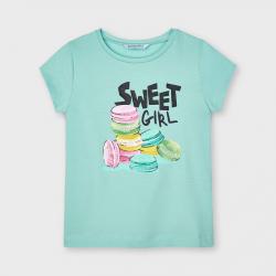 MAYORAL dievčenské tričko s muffinmi 3020-014 emerald