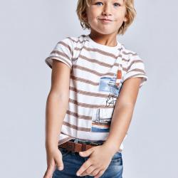 MAYORAL chlapčenské tričko s krátkym rukávom 3029-073 clay