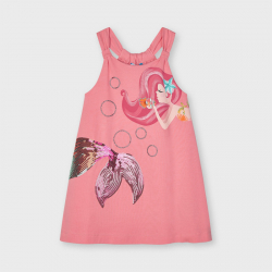 MAYORAL dievčenské letné šaty 3955-053 flamingo
