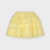 Tylová sukňa s čipkou MAYORAL 3901-062 yellow