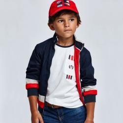 MAYORAL chlapčenské tričko s krátkym rukávom 3046-072 cyber red