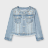 Zdobený rifľový kabát MAYORAL 3478-062 bleached