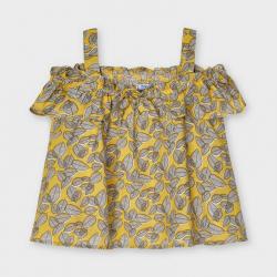 MAYORAL dievčenský top - tielko 3195-011 mustard