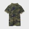 Chlapčenské tričko s golierom MAYORAL 6109-051 green