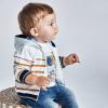 Pásikavá chlapčenská mikina MAYORAL 1408-037 caramel