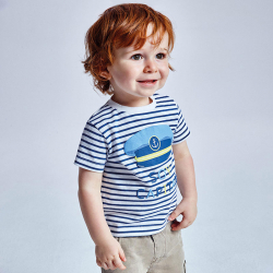 MAYORAL chlapčenské pásikavé tričko 1005-088 capitan