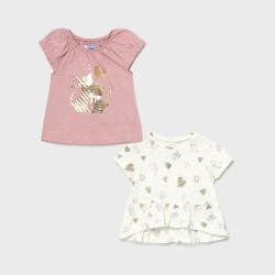 MAYORAL dievčenské tričká 2 pack 1089-060 pink