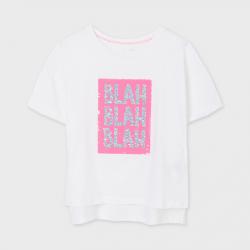 MAYORAL dievčenské tričko s krátkym rukávom 6018-064 white