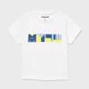 MAYORAL basic chlapčenské tričko 106-070 white
