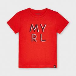 MAYORAL basic chlapčenské tričko 170-016 cyber red