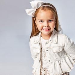 MAYORAL basic dievčenské tričko 174-010 white