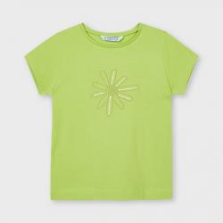 MAYORAL basic dievčenské tričko 174-013 pistachio