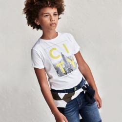 MAYORAL chlapčenské letné tričko 6093-035 white