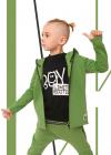 Chlapčenská predlžená mikina ICONIC BOY GREEN