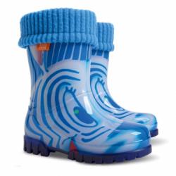 Detské gumáky  s  vložkou DEMAR ZEBRA modrá