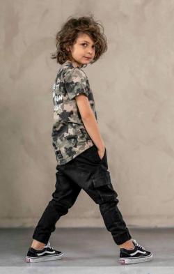 Chlapčenské kapsáčové nohavice  BLACK