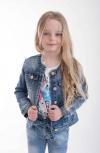 Dievčenský prechodný riflový kabát STARS