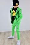 Chlapčenská mikina s kapucňou na zips FANTASY zelená