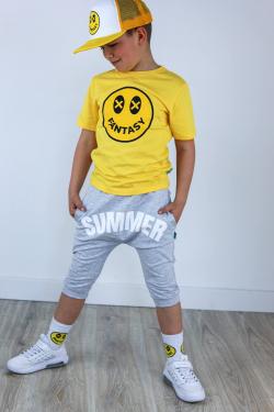 Chlapčenské bavlnené krátke nohavice SUMMER